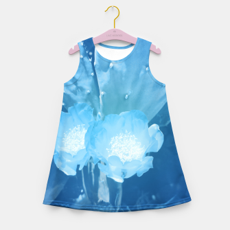 Thumbnail image of cactus blossom wb Girl's summer dress, Live Heroes