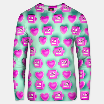 Thumbnail image of Love Robots and other stuff Unisex sweater, Live Heroes
