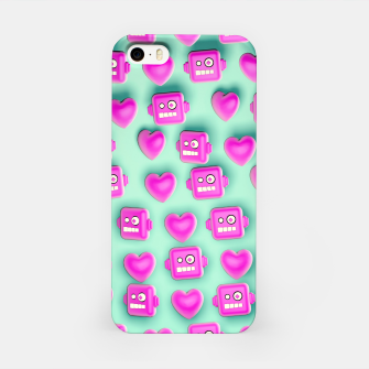 Miniatur Love Robots and other stuff iPhone Case, Live Heroes