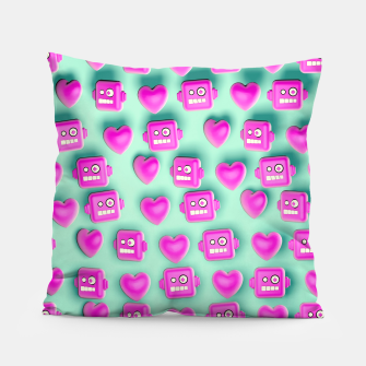 Thumbnail image of Love Robots and other stuff Pillow, Live Heroes