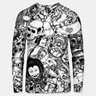 Thumbnail image of Men and Mutants bw Unisex sweater, Live Heroes