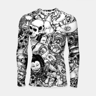 Miniatur Men and Mutants bw Longsleeve rashguard , Live Heroes