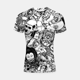 Miniatur Men and Mutants bw Shortsleeve rashguard, Live Heroes