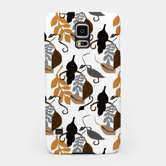 Gray Brown Neutral Leaves Pattern Samsung Case thumbnail image