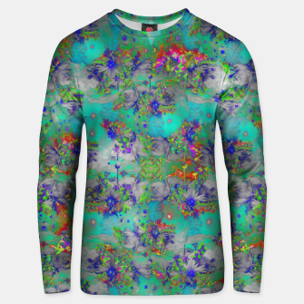 Miniatur Flower Colour Texture Unisex sweater, Live Heroes
