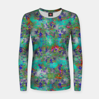 Miniatur Flower Colour Texture Women sweater, Live Heroes