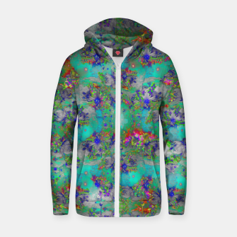 Miniatur Flower Colour Texture Zip up hoodie, Live Heroes