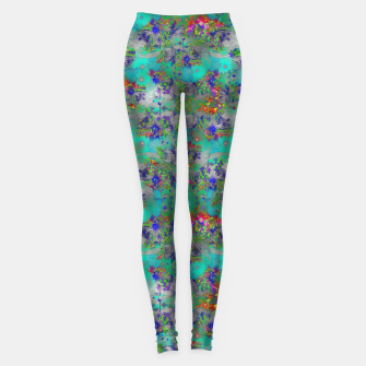 Miniatur Flower Colour Texture Leggings, Live Heroes