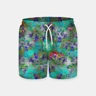 Miniatur Flower Colour Texture Swim Shorts, Live Heroes