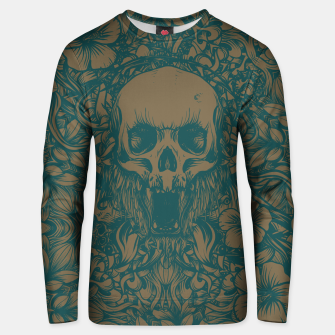 Thumbnail image of Blue Skull in jungle Unisex sweater, Live Heroes