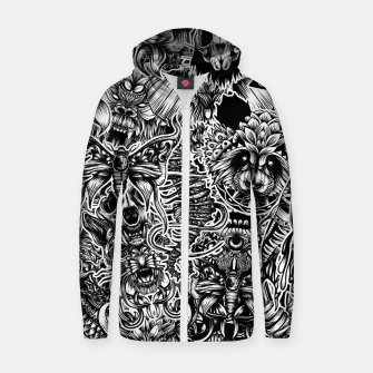 Miniatur Floral animals Zip up hoodie, Live Heroes