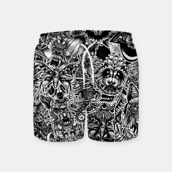 Miniatur Floral animals Swim Shorts, Live Heroes