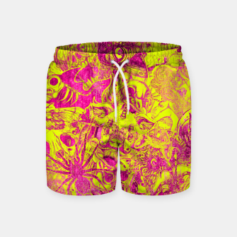 Miniatur Pink Stickers Swim Shorts, Live Heroes