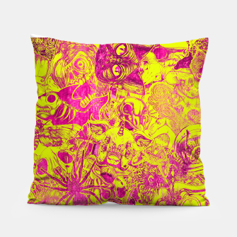 Miniatur Pink Stickers Pillow, Live Heroes