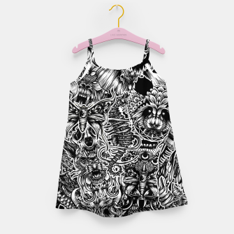 Miniatur Floral animals Girl's dress, Live Heroes