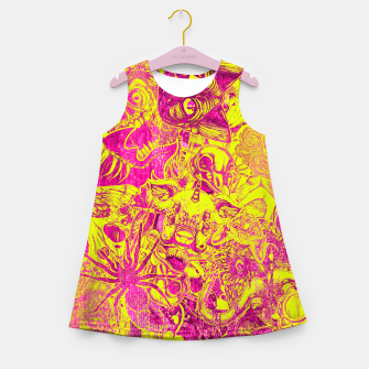 Miniatur Pink Stickers Girl's summer dress, Live Heroes