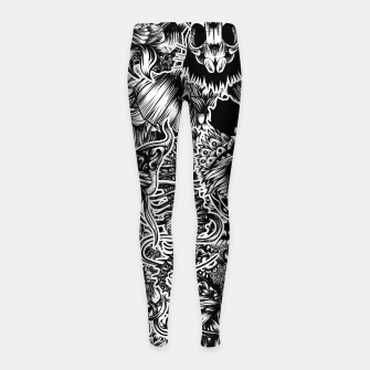 Miniatur Floral animals Girl's leggings, Live Heroes