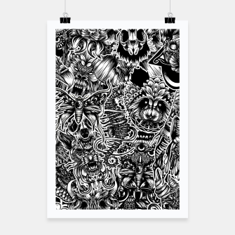 Miniaturka Floral animals Poster, Live Heroes