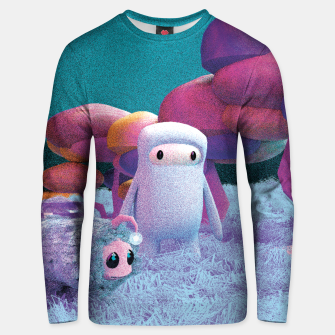 Aliens in a 3D space Unisex sweater thumbnail image