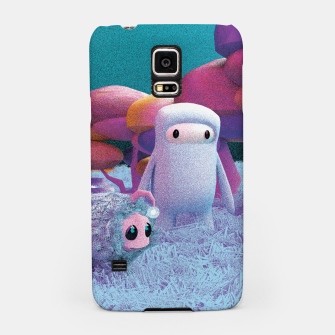 Miniatur Aliens in a 3D space Samsung Case, Live Heroes