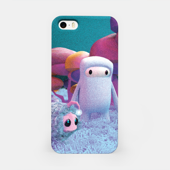 Aliens in a 3D space iPhone Case thumbnail image