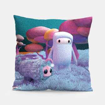 Thumbnail image of Aliens in a 3D space Pillow, Live Heroes