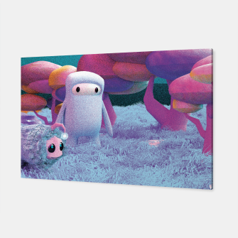 Aliens in a 3D space Canvas thumbnail image