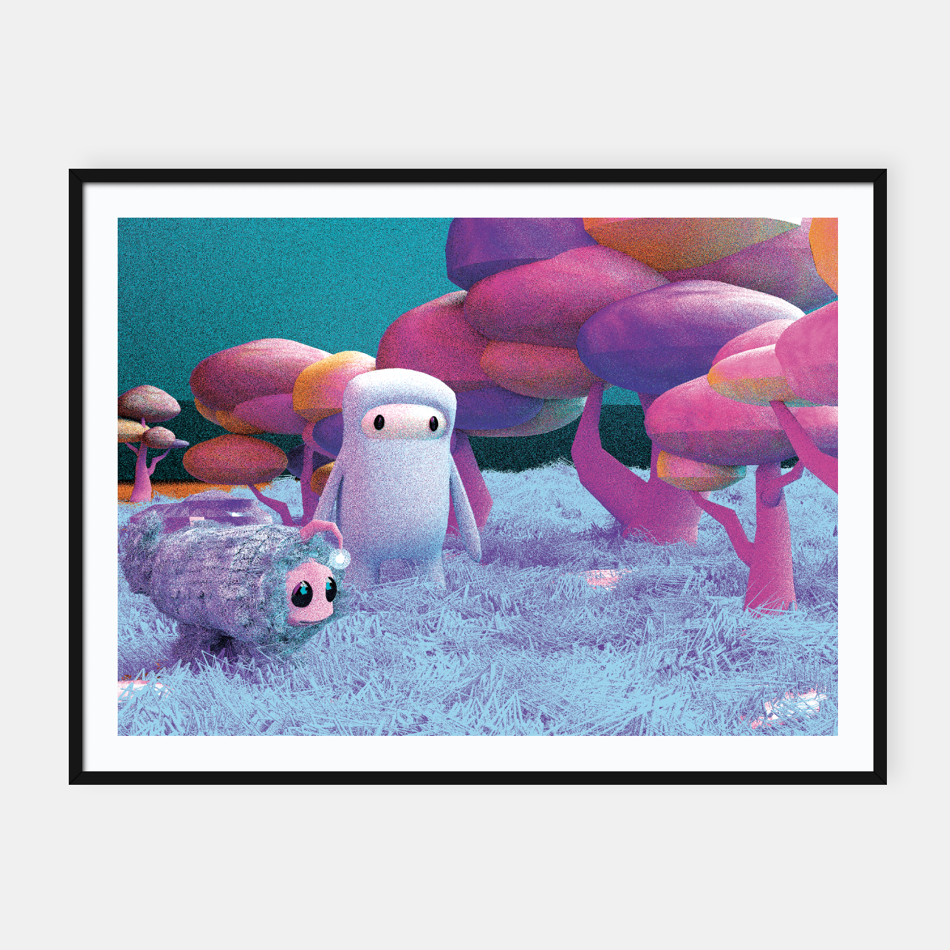 Image of Aliens in a 3D space Framed poster - Live Heroes