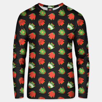 Thumbnail image of Ugly Christmas Sweater Pattern Unisex sweater, Live Heroes