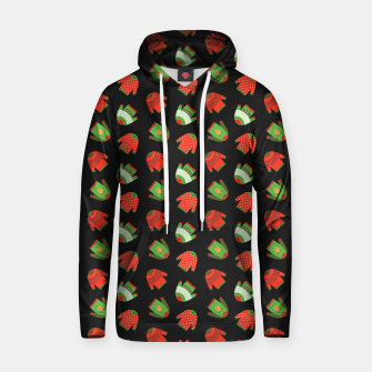 Thumbnail image of Ugly Christmas Sweater Pattern Hoodie, Live Heroes