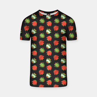 Thumbnail image of Ugly Christmas Sweater Pattern T-shirt, Live Heroes
