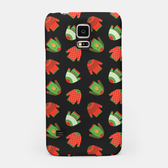 Thumbnail image of Ugly Christmas Sweater Pattern Samsung Case, Live Heroes
