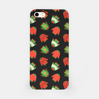Miniaturka Ugly Christmas Sweater Pattern iPhone Case, Live Heroes