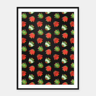 Miniaturka Ugly Christmas Sweater Pattern Framed poster, Live Heroes