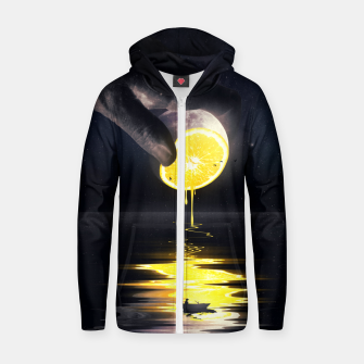 Thumbnail image of Le Moon Zip up hoodie, Live Heroes