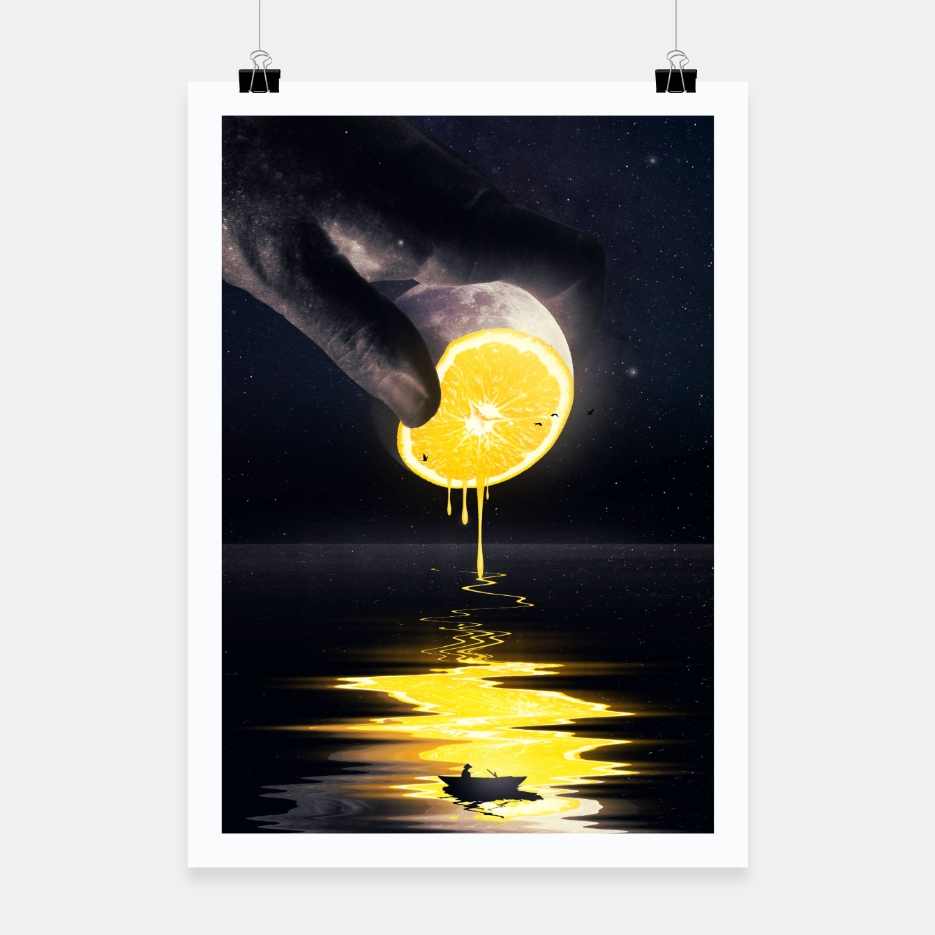 Image of Le Moon Poster - Live Heroes