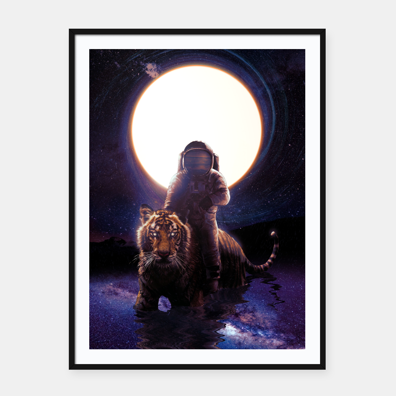 Image of Hunter Framed poster - Live Heroes