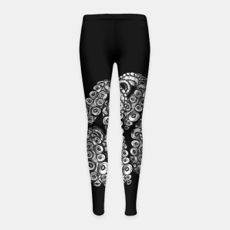 Thumbnail image of Tentacles Black Girl's leggings, Live Heroes