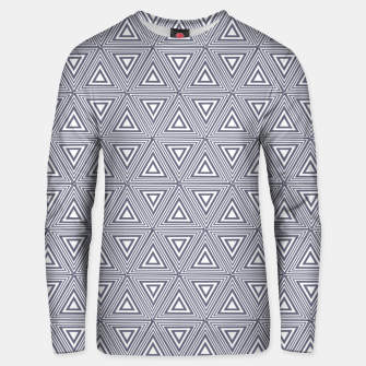 Thumbnail image of Gray Triangles Unisex sweater, Live Heroes