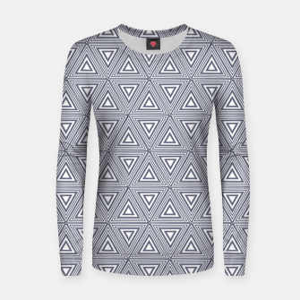 Thumbnail image of Gray Triangles Women sweater, Live Heroes