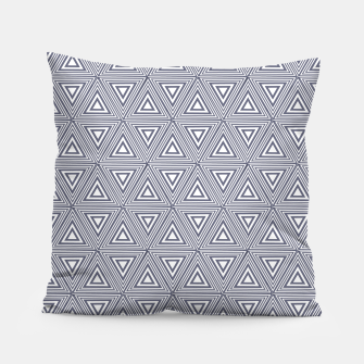 Miniatur Gray Triangles Pillow, Live Heroes