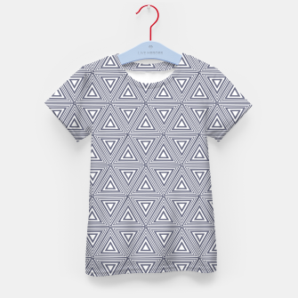Thumbnail image of Gray Triangles Kid's t-shirt, Live Heroes