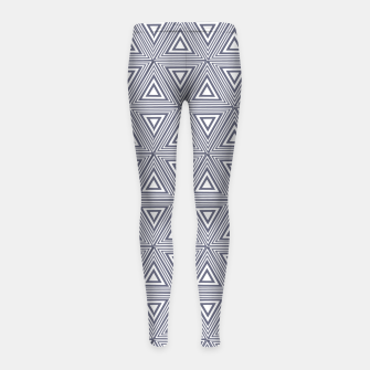 Thumbnail image of Gray Triangles Girl's leggings, Live Heroes