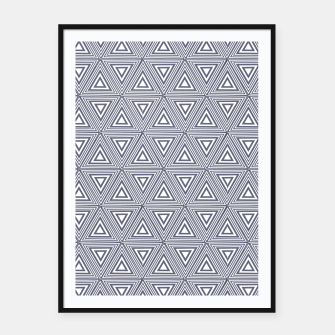 Thumbnail image of Gray Triangles Framed poster, Live Heroes