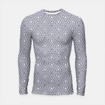 Thumbnail image of Gray Triangles Longsleeve rashguard , Live Heroes