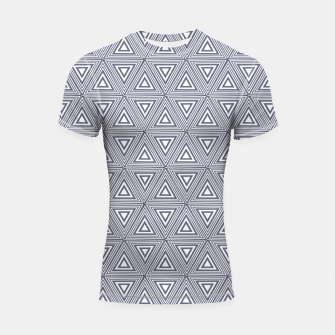 Thumbnail image of Gray Triangles Shortsleeve rashguard, Live Heroes