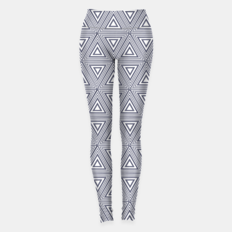 Thumbnail image of Gray Triangles Leggings, Live Heroes