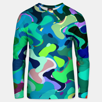 Miniaturka Deep underwater, abstract nautical print in blue shades Unisex sweater, Live Heroes