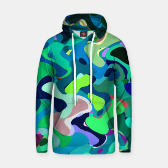 Miniaturka Deep underwater, abstract nautical print in blue shades Hoodie, Live Heroes