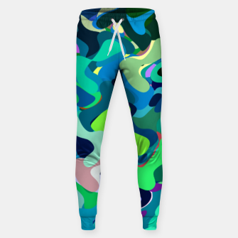 Miniaturka Deep underwater, abstract nautical print in blue shades Sweatpants, Live Heroes